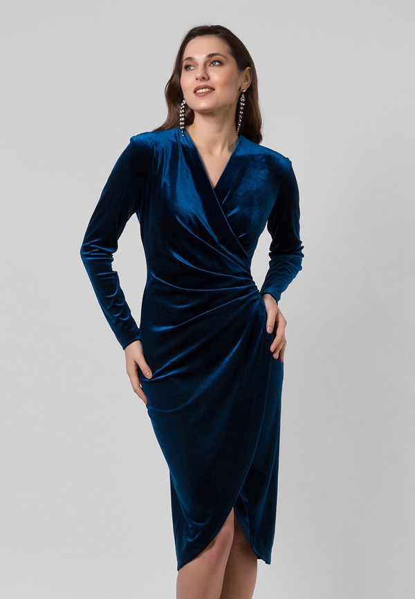 6690a8d1397 Бархатное платье с драпировкой - Lova Shop